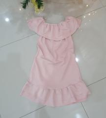 Nezno roza haljina sa karnerom 500DIN