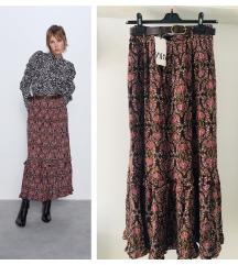 Zara print suknja sa kaišem✨NOVO