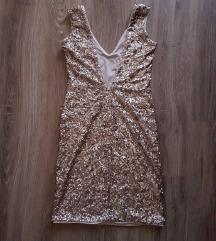 H&M sequin rose gold haljina