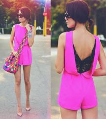 Pink romper/kombinezon