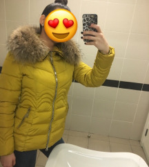 Zimska jakna sa pravim krznom 100e❌60e❗️