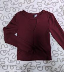 H&M crop top ljubičasta majica