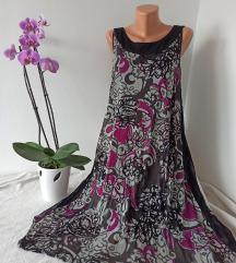 Midi lezerna haljina bez rukava vel XL