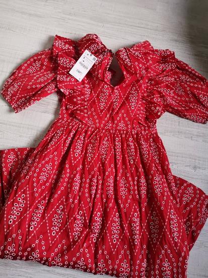 Zara crvena haljina NOVA M, L