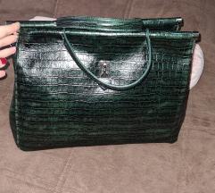 Nova zelena kozna torba sniženje  5000