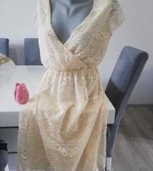 Danas samo 1300 ASOS cipkasta krem haljina ❤️