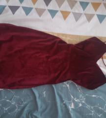 Bordo haljina sa ledjima na pertlanje