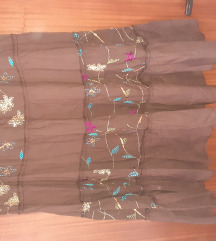 Duga braon suknja