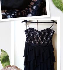 Ženska koktel korset haljina sa čipkom vel M