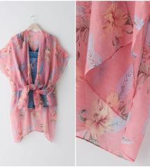 Roze cvetni kimono NOVO sa etiketom