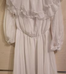 Bela kratka haljina sa karnerom