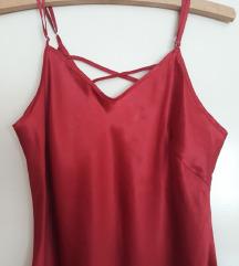 Spavacica od crvene svile kombinezon podhaljina
