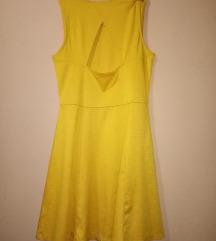 H&M zuta/oker haljina