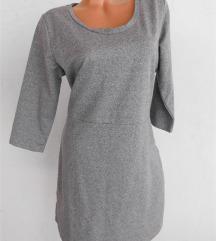 siva pamucna haljina NOVO L