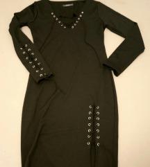 Haljina crna sa pertlama