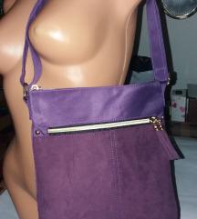 NOVA ljubičasta šik lagana torbica
