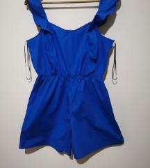 H&M POPLINE ROYAL BLUE KOMBINEZON NOV