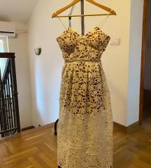 Bela čipkana haljina