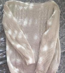 Beli ženksi džemper