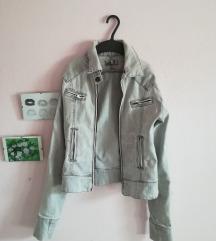 Sivi teksas jakna