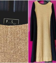 P..S zlatno - crna haljina M-L-snižena