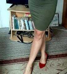 Maslinasta pamuk elastin suknja