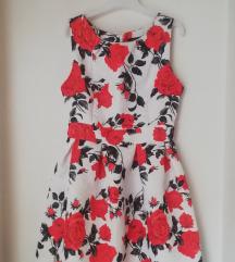 Bela cvetna haljina S/M