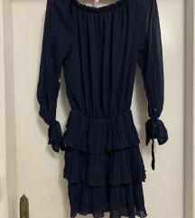 Teget lepršava haljina