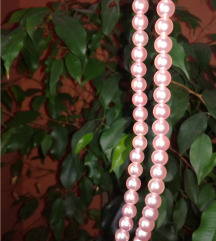 Biserne narukvice - sedefasto roze