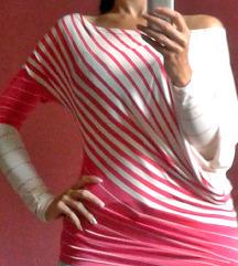 Roze-bela bluzica