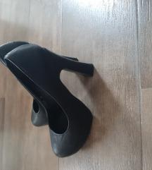 Crne CODE cipele, eko koža, 37, NOVO, popust