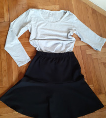 Crna pamucna suknja