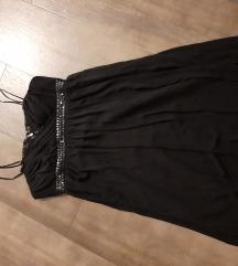 Lux crna haljina, postavljena, 38, NOVO
