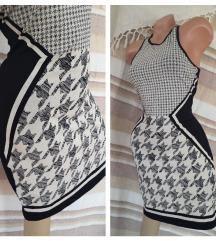 H&M bodycon pepito pamučna haljina NOVO