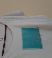 Relax bela zenska majica 2XL
