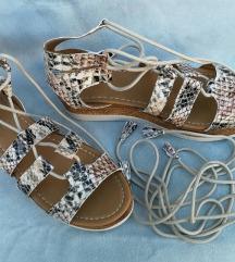 Kozne Snake Print Sandale