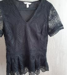 Crna čipkasta H&M bluza