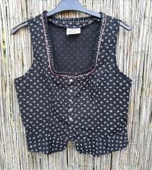 Crni prsluk-bluza