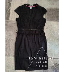 H&M crna haljina 42, L
