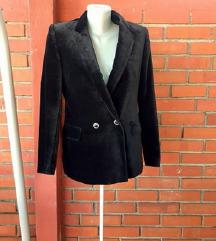Vintage sako od crnog pliša M/L