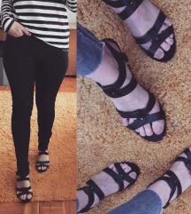 Cortefiel crne sandale/kozne
