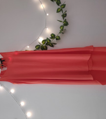 High low narandzasta haljina