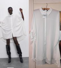 Nova sa et Zara bela kosulja haljina S