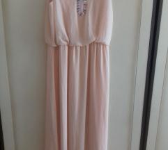 Lila rose duga letnja haljina kajsije boje