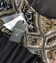 Guess crna haljina sa rucnim vezom  %%% sada 4000