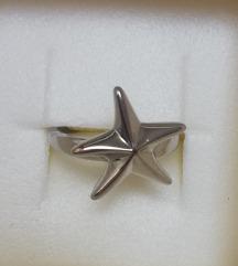 Srebrni prsten morska zvezda NOVO