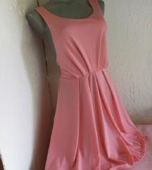 Roze haljinica duple bretele S