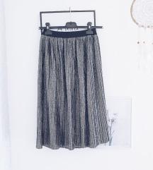 Srebrna plisirana suknja