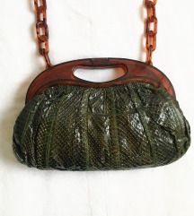 Vintage torba zmijska koža
