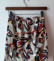 Vintage apstraktna suknja M